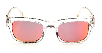 Robert Graham Sunglasses-Sammy-CLEAR/WHITE Frame w/Orange Flash
