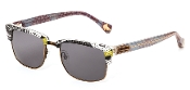 Robert Graham Sunglasses:Jackson Clear w/Fabric Frame & Gray Len