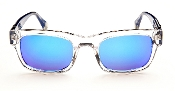 Robert Graham Sunglasses:Sammy-Navy Blue Frame w/Blue Flash Lens