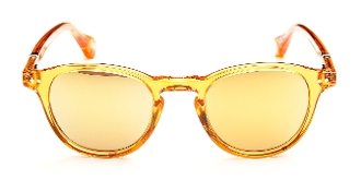Robert Graham Sunglasses-CALVIN-Crystal/Orange w/Gold Flash Lens