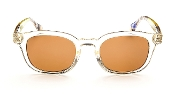 Robert Graham Sunglasses-Robert-Beige/Clear Frame w/Brown Lens